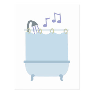 Cante en ducha tarjetas postales