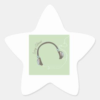 Cante en voz alta calcomanía forma de estrella personalizada