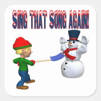 Cante esa canción otra vez pegatinas cuadradas personalizadas