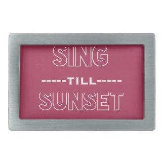 Cante hasta puesta del sol hebillas cinturón