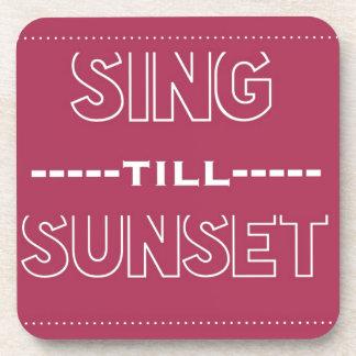 Cante hasta puesta del sol posavaso