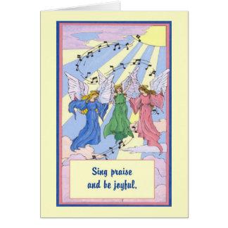Cante la alabanza y sea alegre tarjeton
