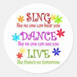 Cante la danza viva etiquetas redondas
