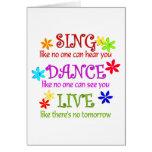 Cante la danza viva tarjetón