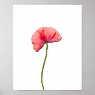 Cante la simplicidad roja del minimalist de la póster