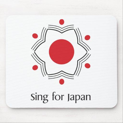 Cante para Japón - mercancía del logotipo Alfombrillas De Raton