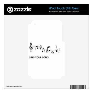 Cante su canción skins para iPod touch 4G