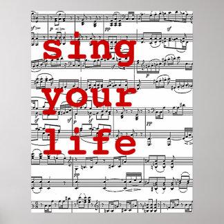 cante su música de la vida póster