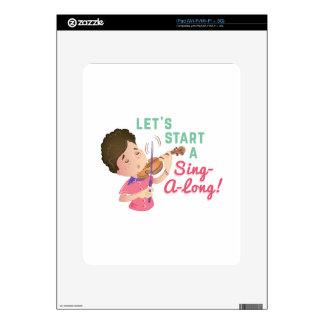 Cante un largo calcomanías para iPad