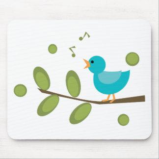 Cante un pájaro de la canción alfombrilla de raton