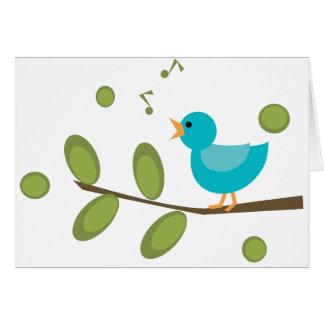 Cante un pájaro de la canción felicitación