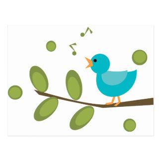 Cante un pájaro de la canción postal