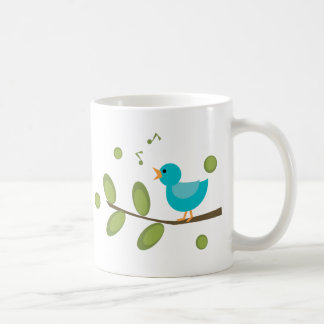 Cante un pájaro de la canción tazas de café