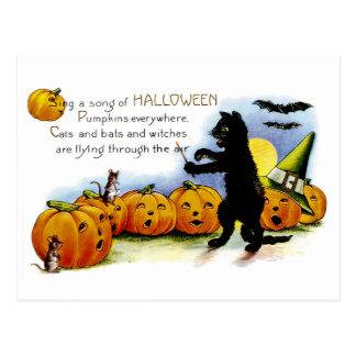 Cante una canción de Halloween Postal