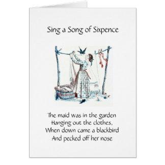 Cante una canción del Sixpence Tarjeta De Felicitación