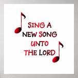 Cante una nueva canción al señor poster