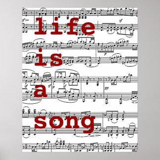 cante/vida es una canción poster
