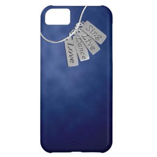 Cante, viva, baile y ame en humo azul funda para iPhone 5C