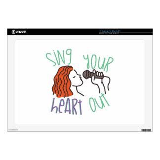 Cante y corazón hacia fuera skins para 43,2cm portátiles