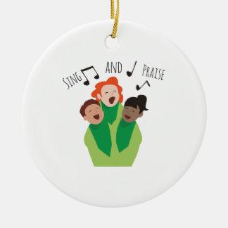 Cante y elogie adorno redondo de cerámica