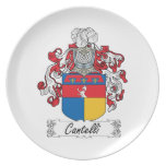 Cantelli Family Crest Plate
