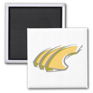 Canteloupe 2 Inch Square Magnet