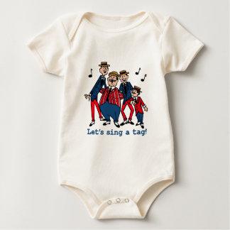 Cantemos una etiqueta mameluco de bebé