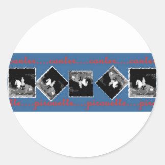 Canter Pirouette in Blue art by Di.Wi. Classic Round Sticker