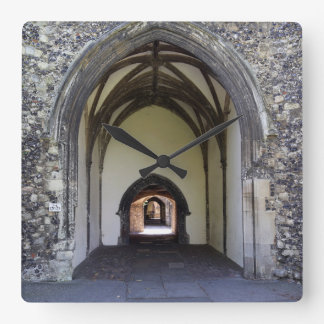 Canterbury Cathedral cloister Square Wall Clock
