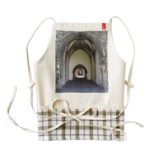 Canterbury Cathedral cloister Zazzle HEART Apron