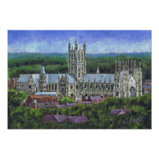 Canterbury Cathedral from a distance Poster