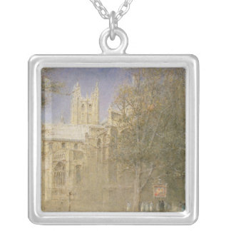 Canterbury Cathedral Silver Plated Necklace