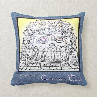 Canterbury Tales Throw Pillow