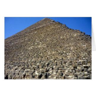 cantería de la pirámide tarjeta de felicitación