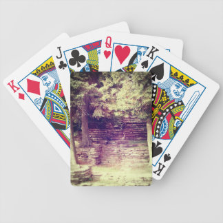 Canterías de la ladera del vintage barajas de cartas