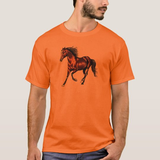 Cantering Bay Horse T-Shirt