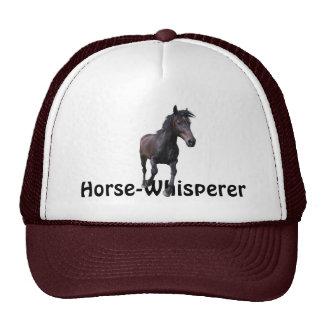 Cantering Black Stallion Horse Whisperer Gift Trucker Hat