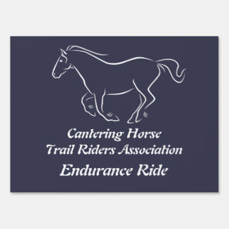 Cantering horse for dark backgrounds yard sign