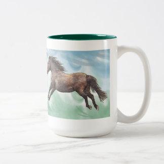 Cantering Horse Horse-lover's Watercolor Art Mug