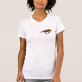 Cantering Mustang Horse Metal-look logo Shirt