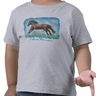 Cantering Mustang Horse Watercolor Art Shirt