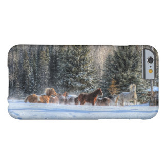 Cantering, Running Horses in Winter Snow Photo Barely There iPhone 6 Case
