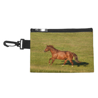 Cantering Sorrel Mare & Field Equine Photo Accessory Bag