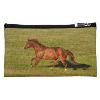Cantering Sorrel Mare & Field Equine Photo Cosmetic Bag