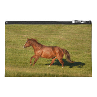 Cantering Sorrel Mare & Field Equine Photo Travel Accessories Bag