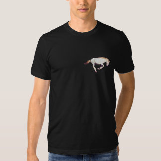 Cantering White Mustang Horse-Lover Freedom Shirt