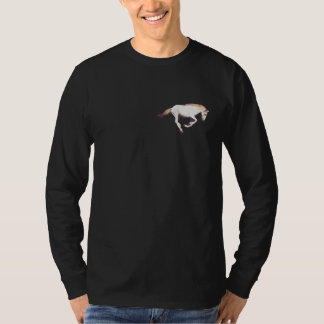 Cantering White Mustang Horse-Lover Logo Sweater T Shirt