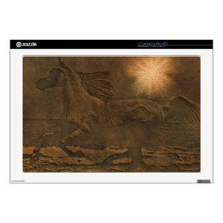 Cantering Wild Spirited Horse Faux Leather-effect Decal For Laptop