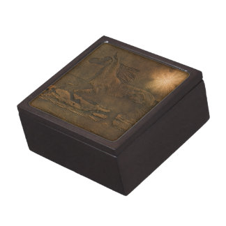 Cantering Wild Spirited Horse Faux Leather-effect Jewelry Box