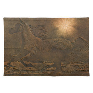 Cantering Wild Spirited Horse Faux Leather-effect Placemat